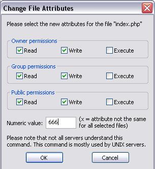 Ошибка 403 Forbidden, связана с правами доступа к файлам в WordPress