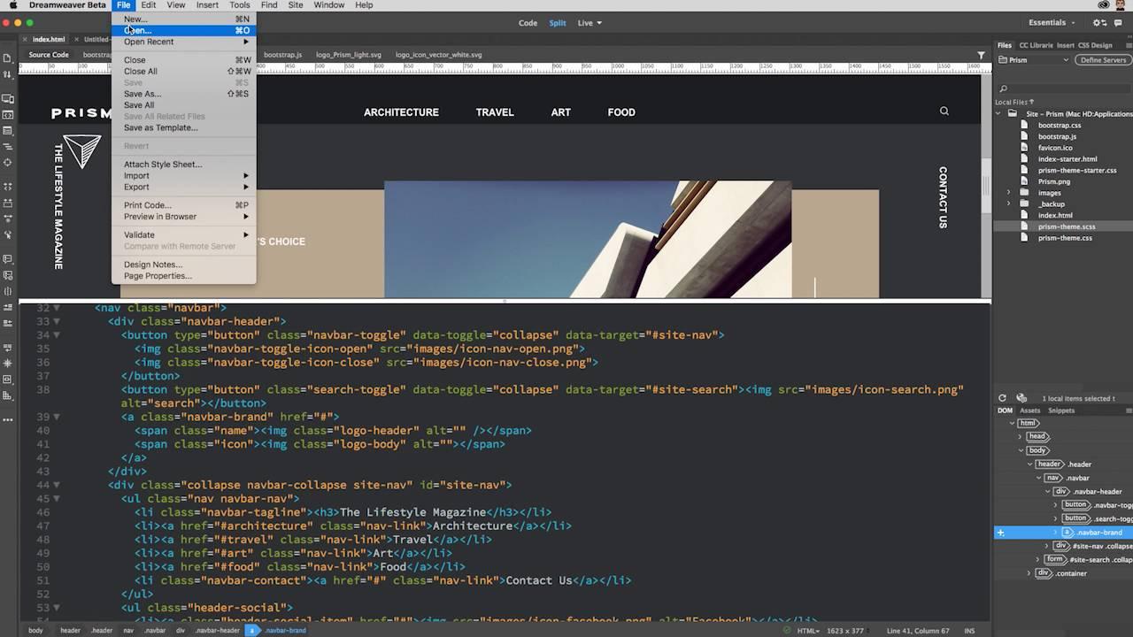 Как в dreamweaver сделать мобильный сайт