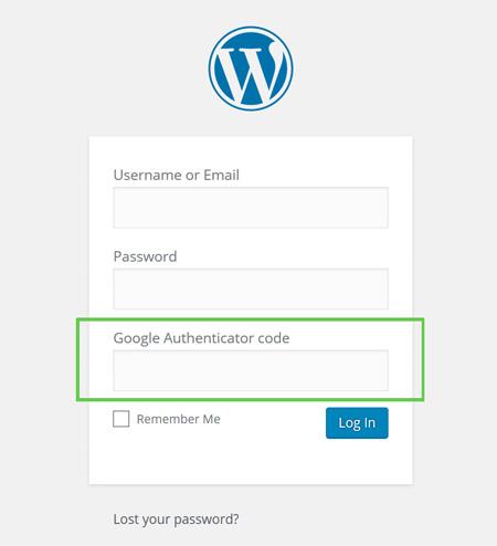 Страница входа с двухфакторной аунтификацией в WordPress