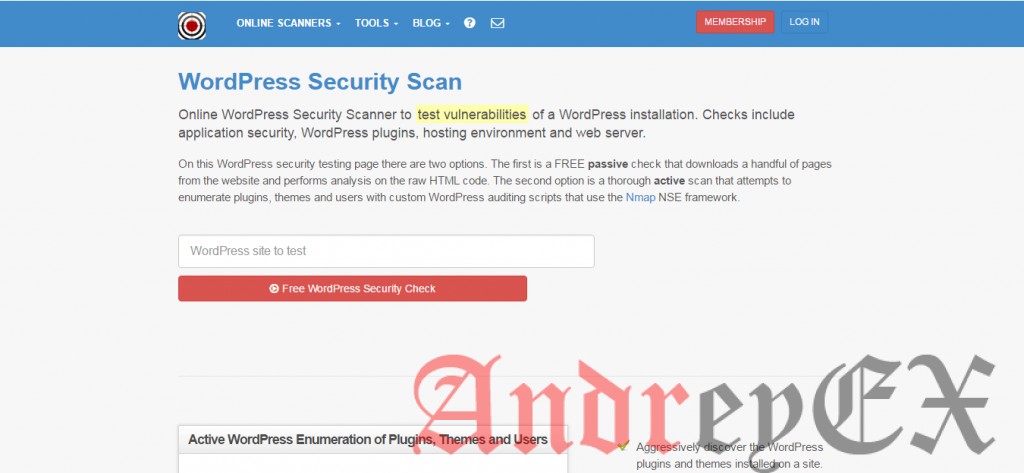 WordPress Scan Security