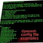 Примеры файлов конфигурации в OpenSSH
