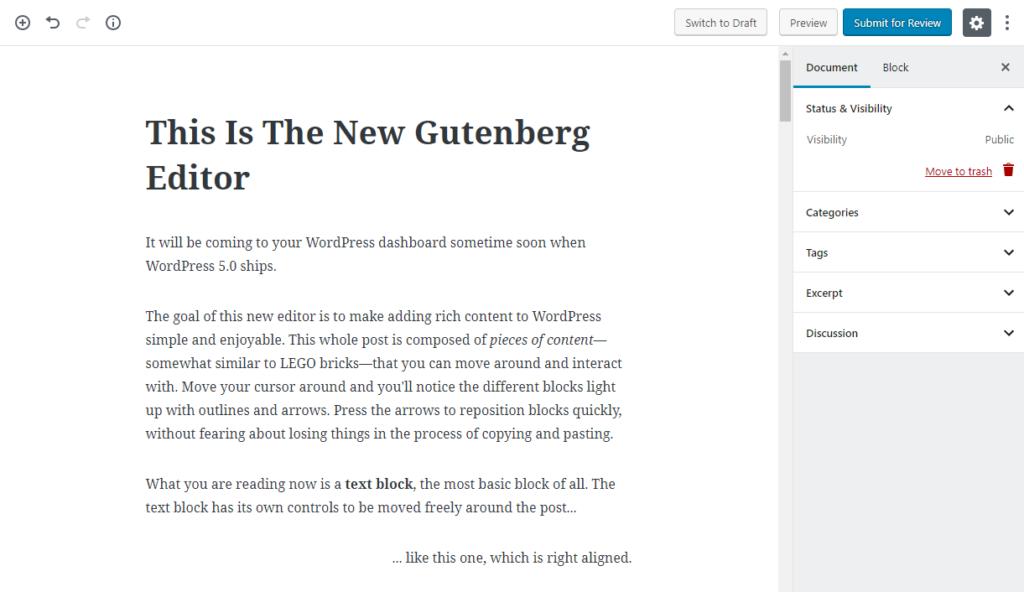 Что нового в WordPress 5.0, плюс, что ожидать от редактора Gutenberg