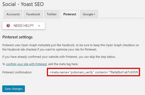 Как проверить Ваш WordPress сайт на Pinterest (шаг за шагом)