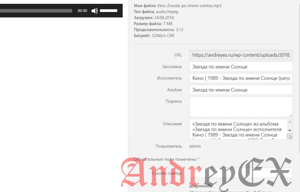 Руководство для начинающих - как создать аудиоплеер в WordPress без плагинов