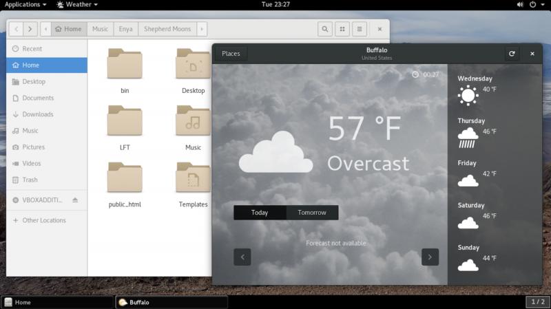 openSUSE с Gnome