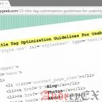 Оптимизация заголовка страницы - советы для Google