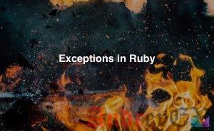 Ruby - Исключения