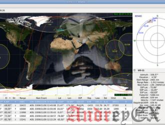 Gpredict - приложение для спутникового слежения