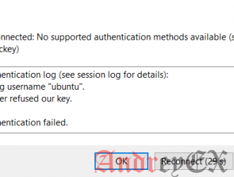 Как решить ошибку Disconnected No supported authentication methods available (server sent publickey) с Ubuntu в AWS EC2