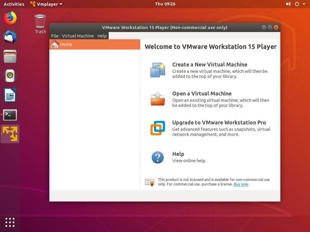 Как установить VMware Workstation Player на Ubuntu 18.04