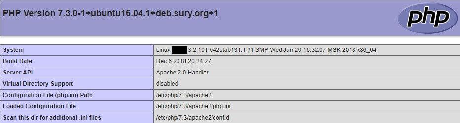 Как установить PHP 7.3 на Ubuntu 16.04