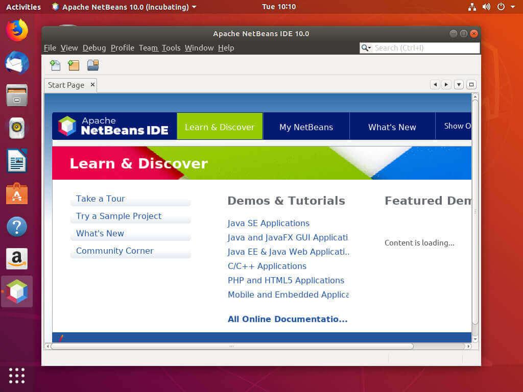 Как установить Netbeans на Ubuntu 18.04