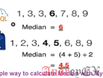 Как рассчитать медианное значение в MySQL с помощью простого запроса SQL