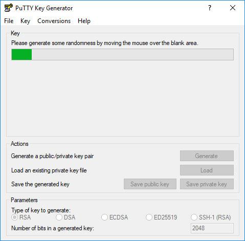 Генерация ключей SSH в Windows с помощью PuTTYgen