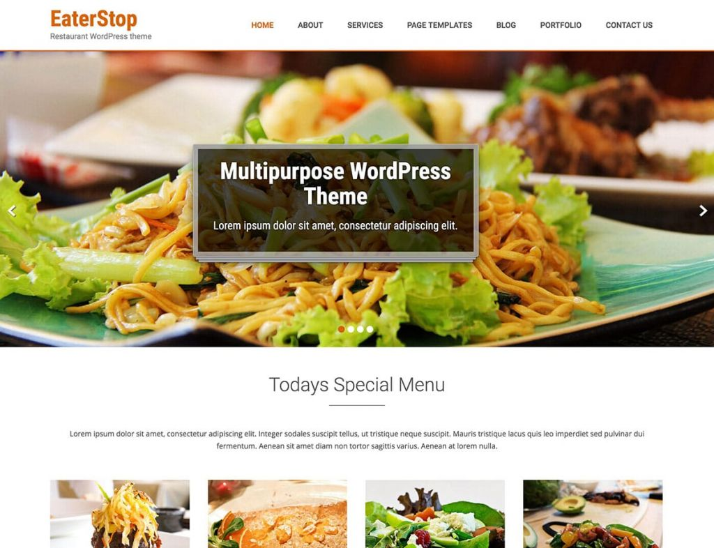 Eaterstop Lite - Тема в WordPress