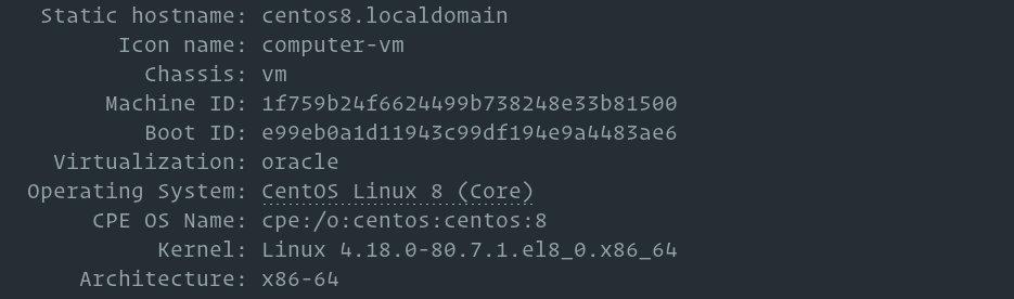 Как изменить имя хоста на CentOS 8
