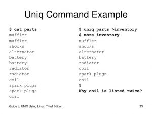 Команда Uniq в Linux с примерами