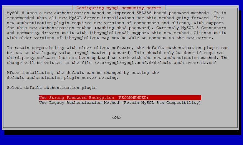Установка MySQL на Debian 9