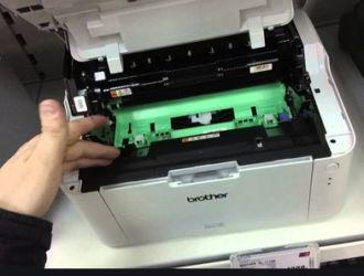Принтер Brother hl 1110r. Мигает красная лампочка и не печатает